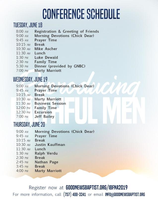 2019FamilyConferenceSchedule